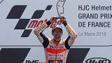 Marc Márquez celebra vitória no GP de França em Moto GP