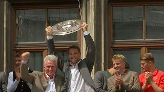 Münih'te şampiyonluk coşkusu