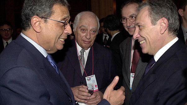 برنارد لويس يتوسط وزيري خارجية مصر وتركيا - اسطنبول 2002