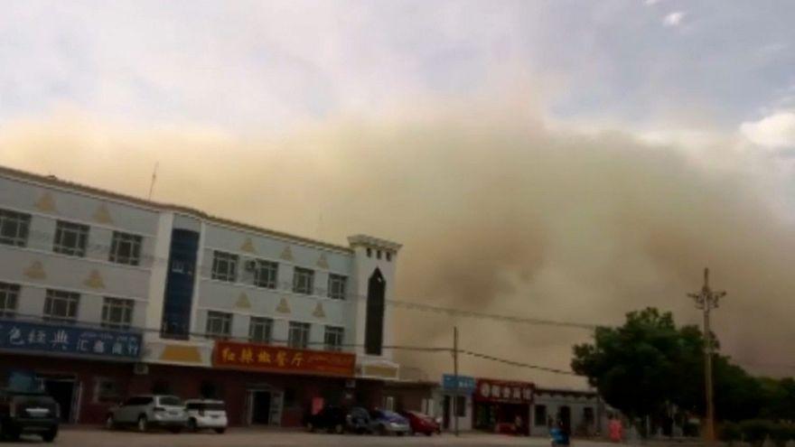 Alerte à la tempête de sable en Chine