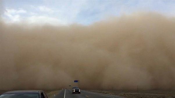 Sandsturm im Nordwesten Chinas
