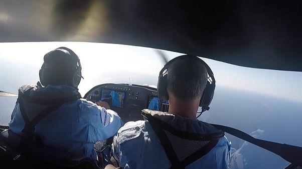 Gönüllü Fransız pilotlar Akdeniz semalarında