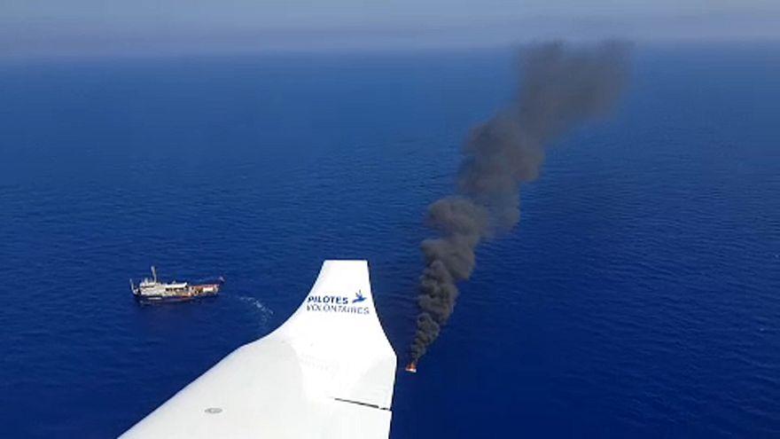 Önkéntes pilóták bevetésen a Földközi-tengeren
