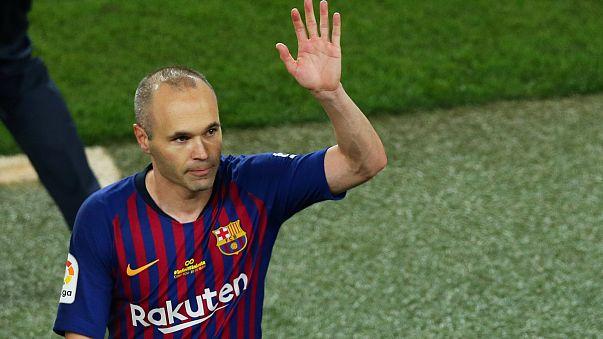 Andrés Iniesta bids farewell to Barcelona