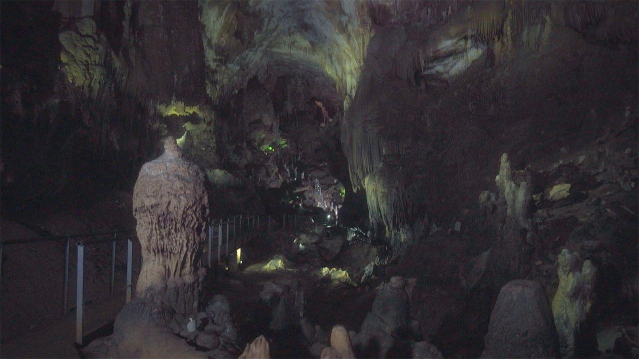 Lélegzetelállító látvány a Prométeusz-barlangban