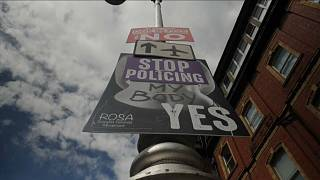 'Yes' and 'No' campaign posters in Dublin, Ireland