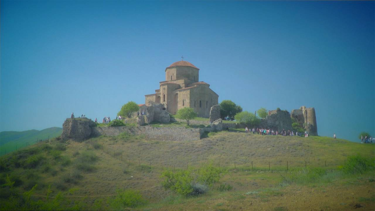 Überlegene Bautechnik: das Dschwari-Kloster in Georgien