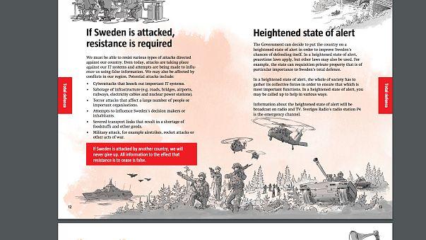 Sweden distributes 'be prepared for war' leaflets to homes