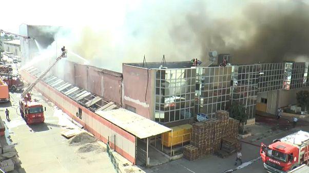 Пожар в Мерсине