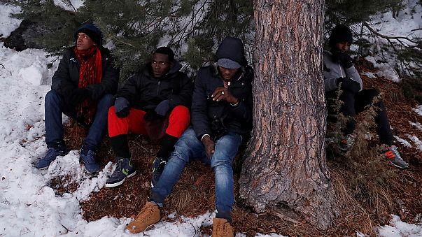 Mültecilerin Alp Dağları'ndaki tehlikeli yolculuğu