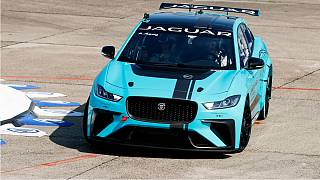 Jaguar Racing Gives Global Debut to I-PACE eTROPHY Racecar in Berlin