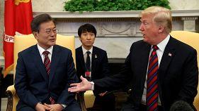 Дональд Трамп и Мун Чжэ Ин