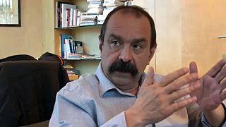Ο ηγέτης των Γάλλων απεργών στο euronews