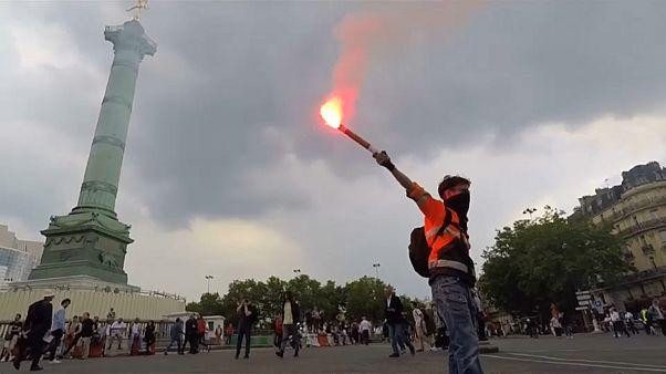 Париж: протесты и аресты