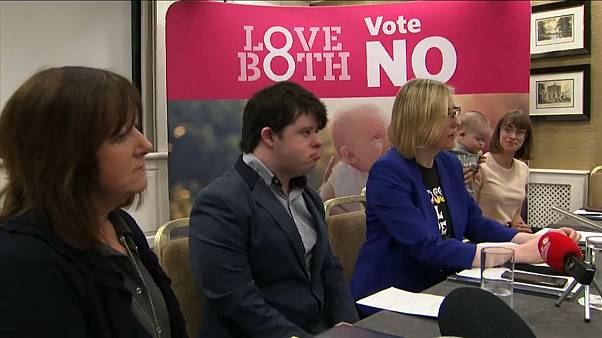 Anti-abortion campaign in Ireland claims only existing restrictive law will protect babies with Down syndrome