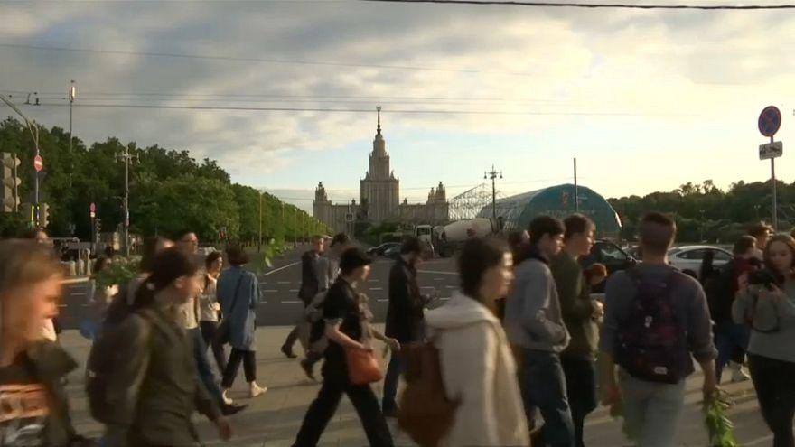 Los estudiantes rusos protestan por el Mundial de la FIFA