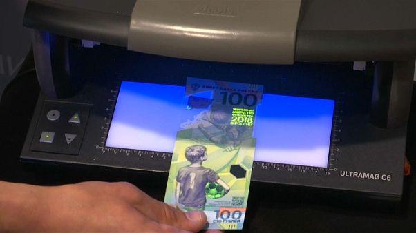 Russland: Fußball-Geldscheine für die WM