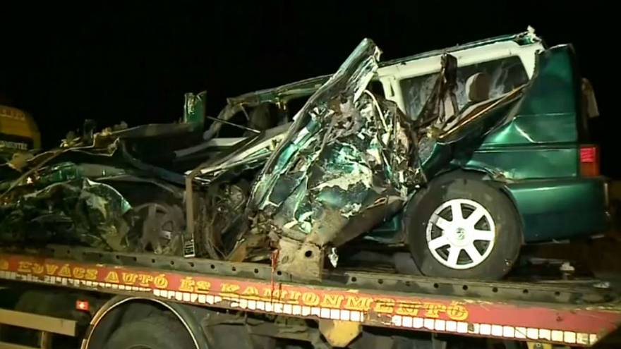 Nine Romanians killed in Hungary minibus crash, driver 'live on Facebook'