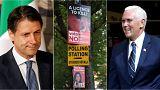 Live updates: New Italy PM; Irish abortion vote; and Pence 'stupid'