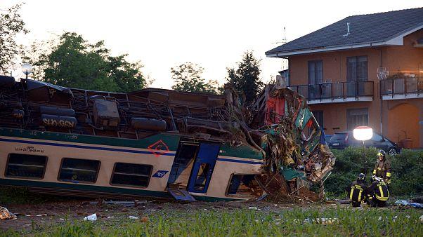 Dramático choque entre un tren y un camión en Italia