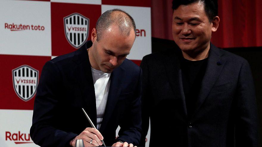 لاعب نادي برشلونة أندريس إنييستا ينضم رسميا لنادي فيسيل كوبي الياباني