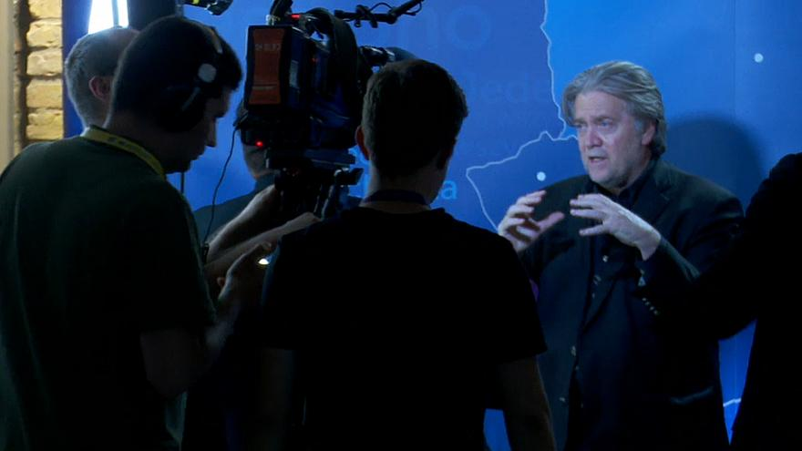 Steve Bannon interviewed by Hungarian state TV