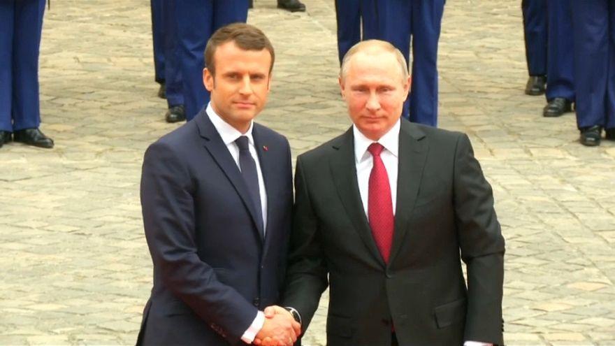 E. Macron et V. Poutine à Versailles en mai 2017.