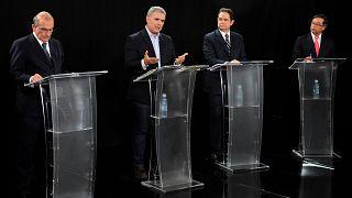 Humberto de la Calle, Ivan Duque, German Vargas Lleras, und Gustavo Petro