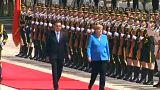 Merkel de visita à China