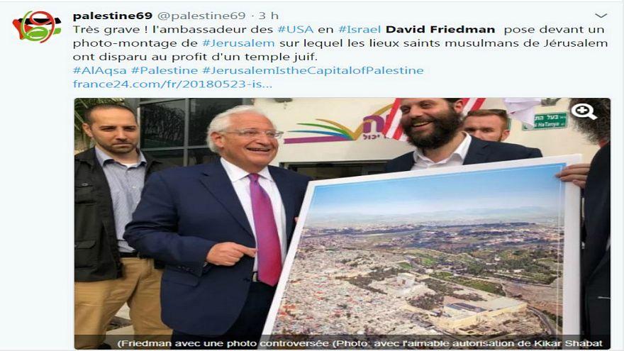 الأزهر يستنكر صورة للسفير الأمريكي تظهر فيها القدس دون المسجد الأقصى