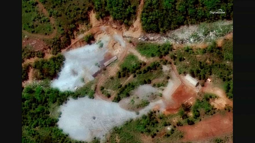 Satellite images showing North Korea's Punggye-ri nuclear test facility.
