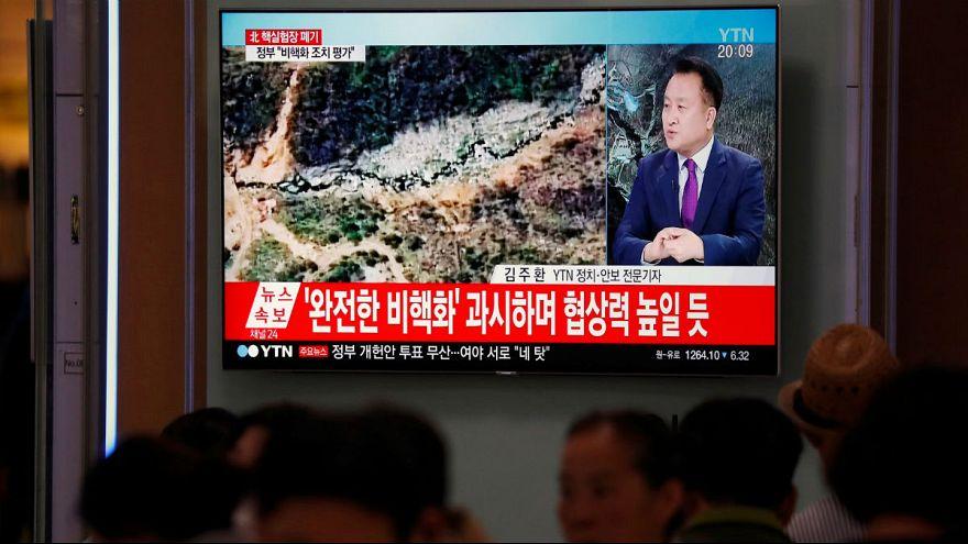 کره شمالی از تخریب سایت آزمایشهای هستهای خود خبر داد