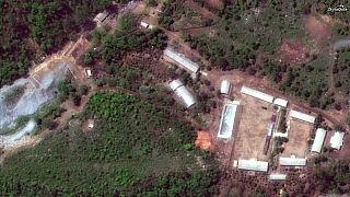منشأة بونجي-ري الكورية الشمالية للاختبارات النووية في صورة التقطت بالقمر ال
