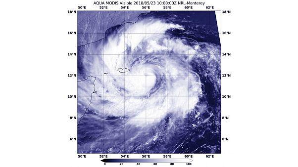 صورة أقمار صناعية ملتقطة يوم أمس الأربعاء 23 حزيران / يونيو 2018