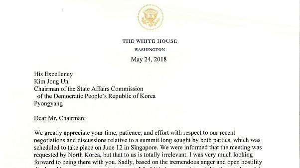 """""""Querido Sr. presidente"""" La carta de Trump a Kim Jong un en la que cancela su reunión"""