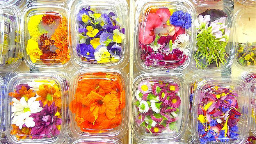 أزهار قابلة للأكل بنكهات مختلفة