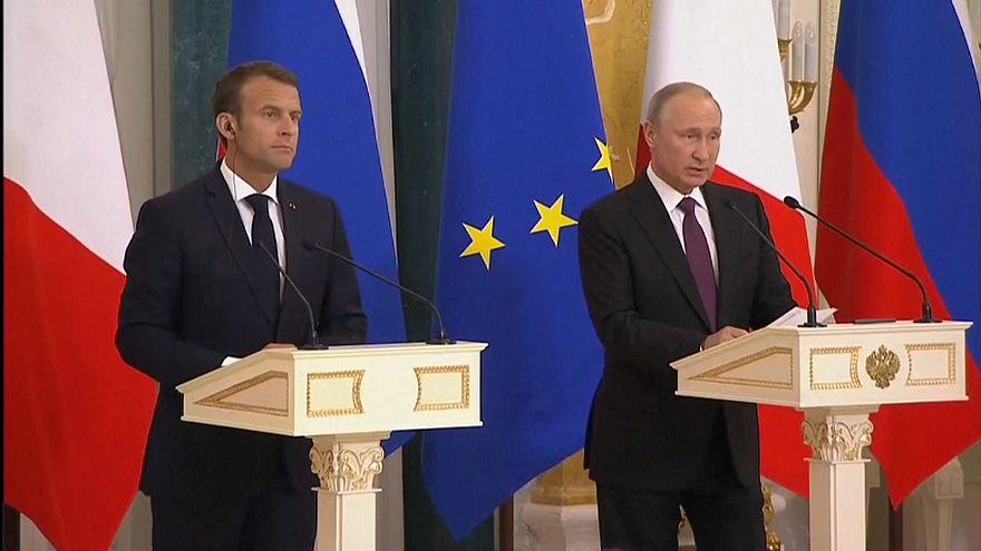 Putin y Macron cierran filas ante los desplantes de Trump