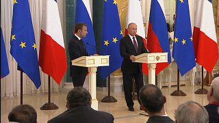 Путин и Макрон: встреча в Санкт-Петербурге