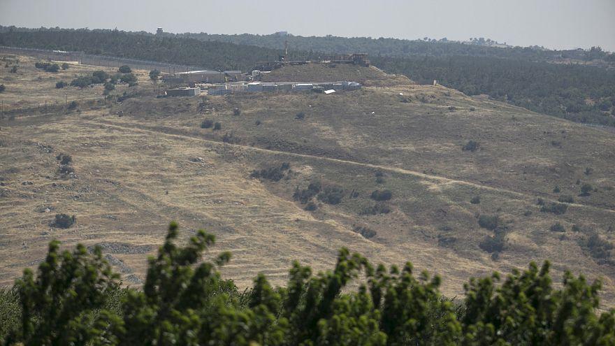 مستشفى ميداني إسرائيلي يطل على بلدة سورية عند خط الهدنة بين إسرائيل وسوريا