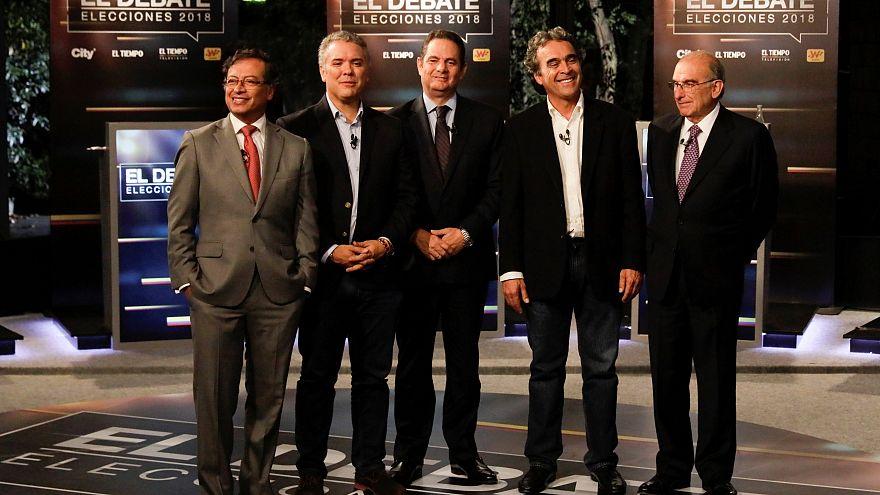 Candidats premier tour présidentielle Colombie.