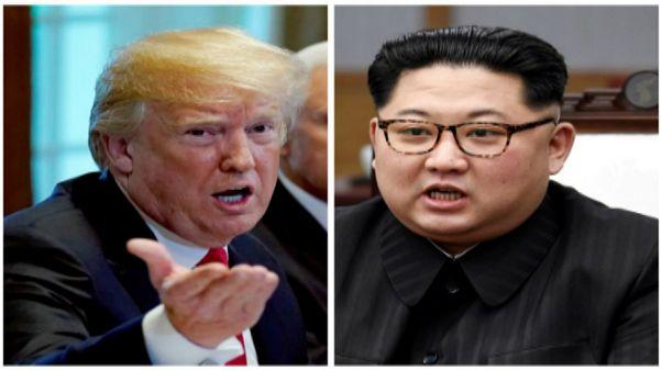 الزعيم الكوري كيم والرئيس الأمريكي دونالد ترامب