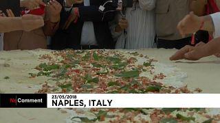 Le record de la plus longue pizza frite du monde battu à Naples