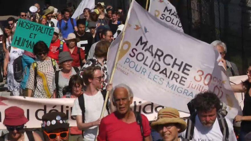 A Lione la Marcia per i migranti Ventimiglia-Londra