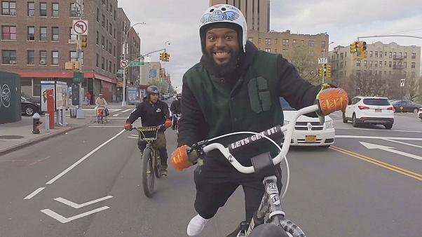 Watch: NYC bike crew gains Instagram fame with crazy street tricks