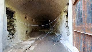 One of the destroyed access tunnels to North Korea's nuclear test site
