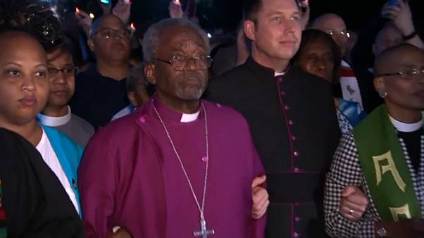 Bishop Michael Curry at the vigil in front of the White House