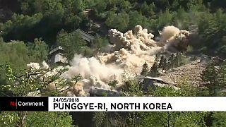 Explosiones en el centro nuclear de Punggye-ri