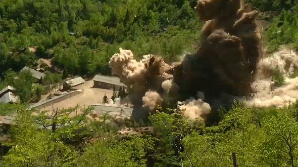 ویدئوی انفجار مرکز آزمایش هستهای کره شمالی