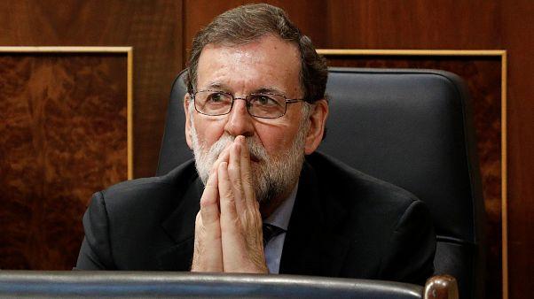Mariano Rajoy im Parlament