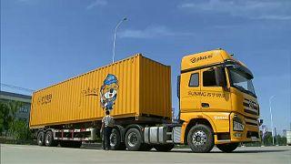 Vezető nélküli teherautót fejlesztettek ki Kínában